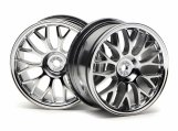 #3712 MESH WHEEL 26mm CHROME (1mm OFFSET)
