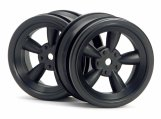 #3816 VINTAGE 5 SPOKE WHEEL 26mm BLACK (0mm OFFSET)