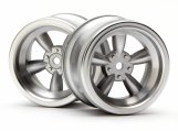 #3820 VINTAGE 5 SPOKE WHEEL 31mm MATTE CHROME 6mm OFFSET