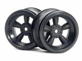#3821 Диски 1/10 - VINTAGE 5 SPOKE 31MM (WIDE) BLACK (6MM OFFSET) 2шт
