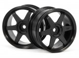 #3836 TE37 WHEEL 26mm BLACK (0mm OFFSET)