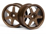 #3838 TE37 WHEEL 26mm BRONZE (0mm OFFSET)