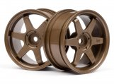#3843 TE37 WHEEL 26mm BRONZE (3mm OFFSET)