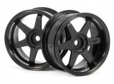 #3846 TE37 WHEEL 26mm BLACK (6mm OFFSET)