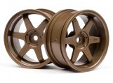 #3848 TE37 WHEEL 26mm BRONZE (6mm OFFSET)