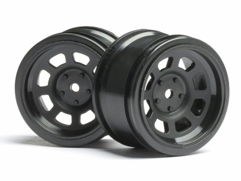 3858 VINTAGE STOCK CAR WHEEL 31mm BLACK (6mm OFFSET)
