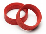 #4630 PRO MOLDED INNER FOAM 24mm (RED/MEDIUM SOFT/2pcs)
