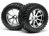#4727 MOUNTED GOLIATH TIRE 178x97mm on BLAST WHEEL CHROME