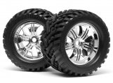#4728 MOUNTED GOLIATH TIRE 178x97mm on TREMOR WHEEL CHROME