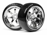 #4739 T-DRIFT TIRE 26mm RAYS 57S-PRO WHEEL CHROME