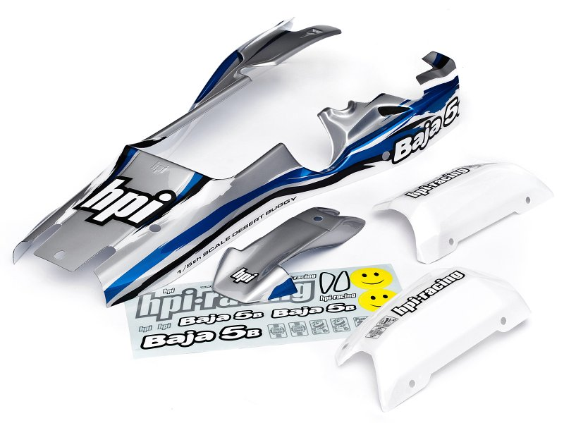 7790 BAJA 5B BUGGY PAINTED BODY (BLUE/SILVER/WHITE)