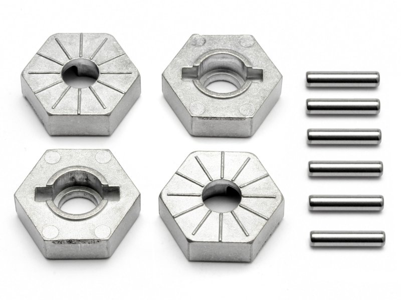 HPI 86804 Hex Wheel Hub 17mm Savage Flux//XL//4.6 Silver//4pcs