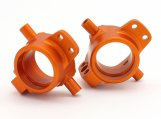 #86994 HD ALUMINUM FRONT HUB CARRIER (ORANGE/2pcs)