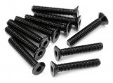 #Z086 FLAT HEAD SCREW M3x18mm (HEX SOCKET/10pcs)