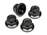 #Z682 FLANGED LOCK NUT M5 (BLACK/4pcs)