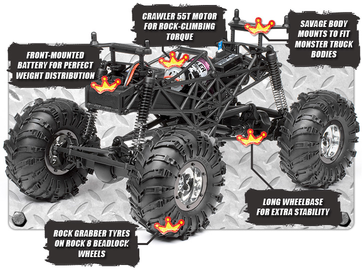 102115 Rtr Crawler King With Jeep Wrangler Rubicon Body