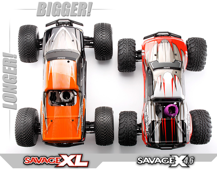 savage_size_comparison_top 104246 savage xl 2 4ghz HPI Savage Flux at n-0.co