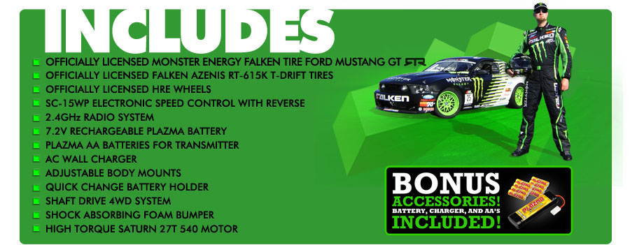 Monster Energy Falken Tire Ford Mustang Drift