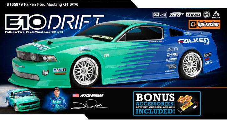 105979 Rtr E10 Drift Falken Mustang Gt Rtr