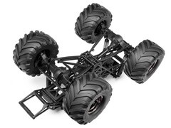 Underside view of Wheely King 4WD Drivetrain