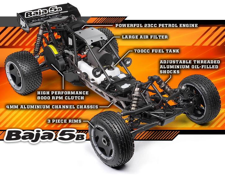 Wheel hub completely Set Black Set for HPI Baja 5B
