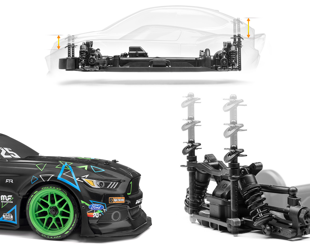 RS4 SPORT 3 VGJR FORD MUSTANG 1/10 4WD ELECTRIC CAR (#115984) | HPI ...