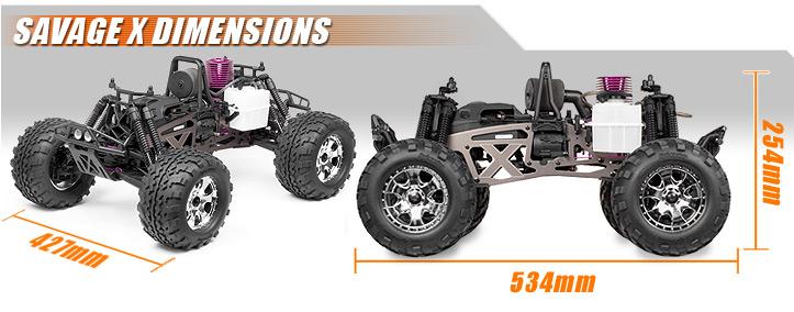 dimensions_en 873 savage x 4 6 reverse rtr HPI Savage Flux at n-0.co