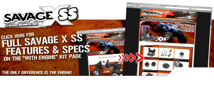 876 SAVAGE X SS KIT WITH NITRO GT-2 TRUCK BODY (WITHOUT ENGINE)