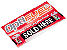 OPTIFUEL SHOP WINDOW STICKER 1300 X 160MM (ADHESIVE REAR)
